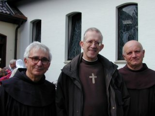 Franciscans visiting from Italy